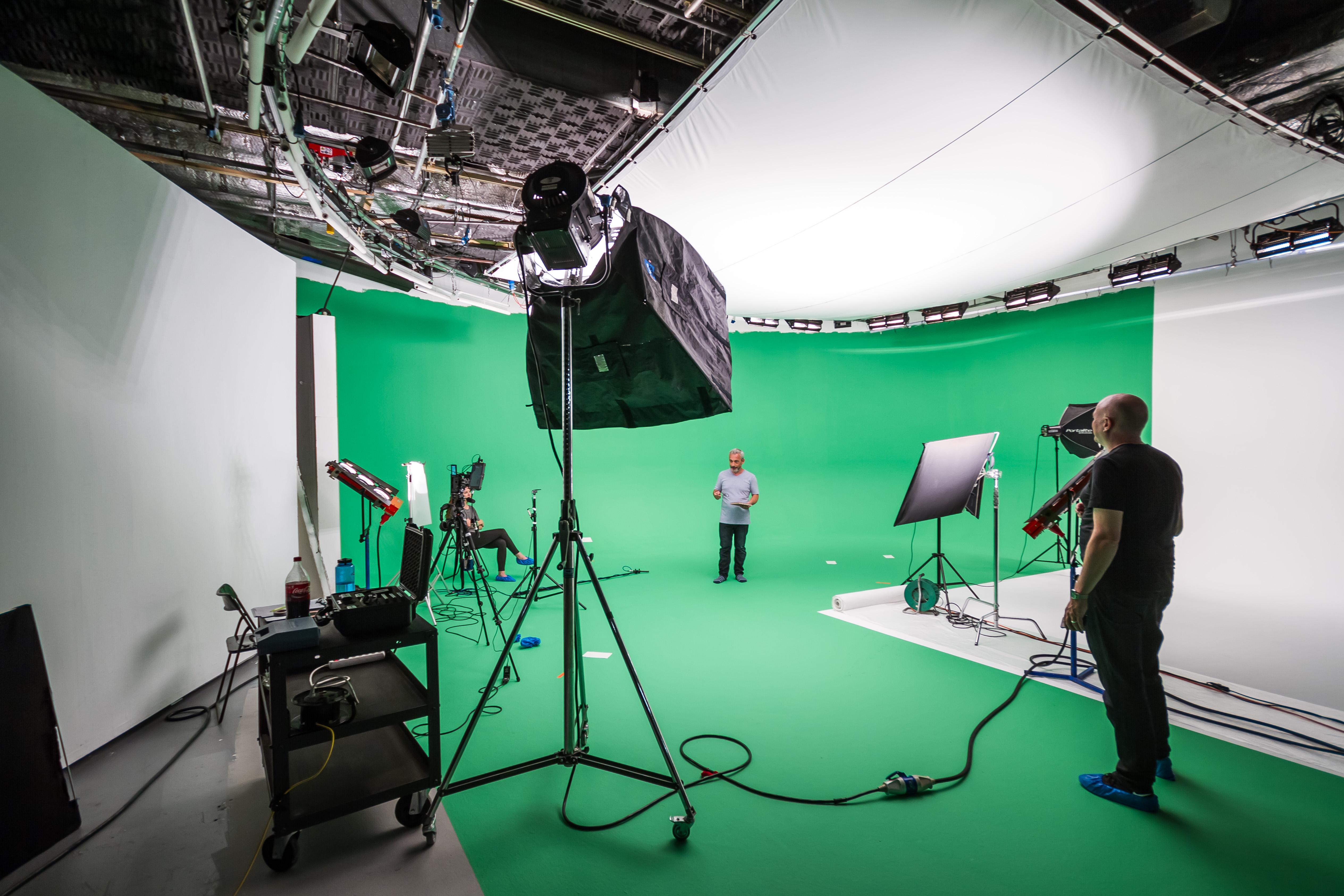 Bild externes Greenscreen-Studio